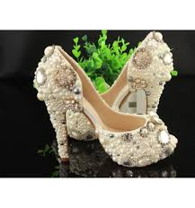pearl wedding shoes customized ivory pearl wedding shoes peep toe bridal shoes