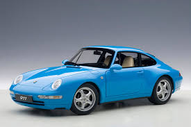 Porsche 911 Blue - autoart 1995 porsche 911 carrera 993 riviera blue metallic
