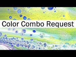 color combination request acrylic paint pouring heat gun cell