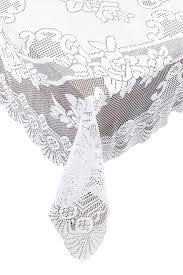 Oblong Table Cloth Amazon Com Ritz Lace Oblong Tablecloth 63 By 108 Inch White