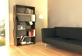 furniture large brown wooden bookshelves with glass doors and