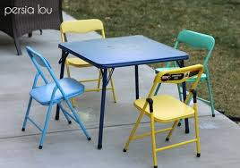 modern kids table set makeover no power tools required persia lou