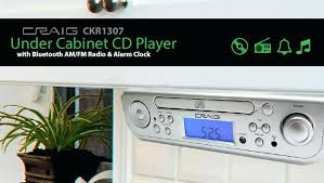 Cd Player For Kitchen Under Cabinet by Under Cabinet Cd Player With Bluetooth Am Fm Radio Alarm Clock