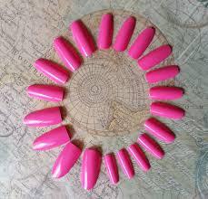 20 pink nails press on nails glue on nails pink