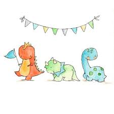 dinosaur parade 8x10 nursery art dragon dinosaur by ohhellodear