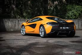orange mclaren rear 2017 mclaren 540c review video performancedrive