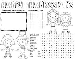 thanksgiving activity pages printable coloring pages