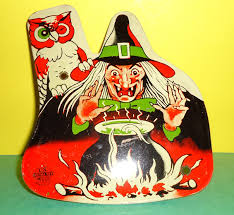 Vintage Halloween Owl by Original Vintage 1950s 1960s U S Metal Toy Halloween Witch Owl