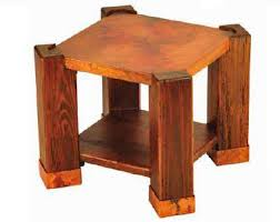 Arts And Crafts Nightstand Arts U0026 Crafts Copper End Table Rustic Nightstand Craftsman