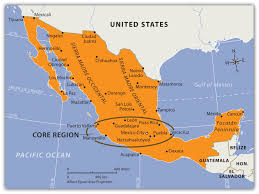 Map Of Mexico Coast by Middle America