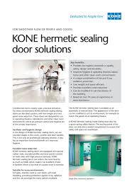 kone hermetic sealing door solutions kone pdf catalogue