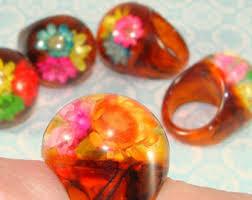 vintage plastic rings images Tortoise shell ring etsy jpg