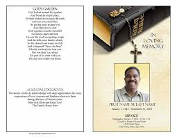 funeral programs template funeral program template bible memories