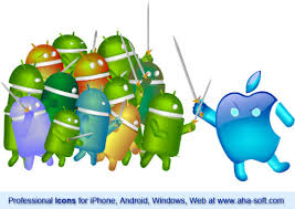 iphones vs androids apple iphone vs android the epic battle icon lover