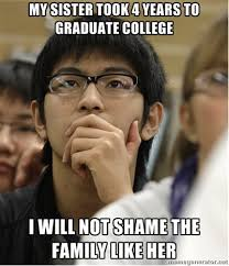 Meme College - asian college freshman know your meme