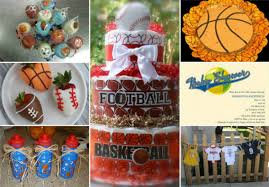 sports themed baby shower cakes home party theme ideas