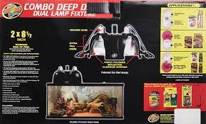 Zoo Med Light Fixture by Amazon Com Zoo Med Combo Deep Dome Dual Lamp Fixture Pet