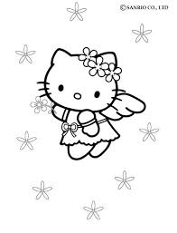 kitty angel coloring pages hellokids