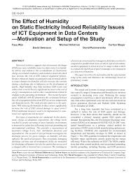the effect of humidity on static electricity induced reliability