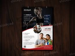 free download fitness u0026 gym flyer template photoshop