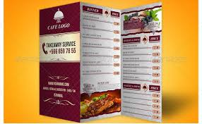 14 great tri fold restaurant menu psd templates u2013 design freebies