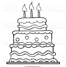 birthday cake coloring page ppinews co