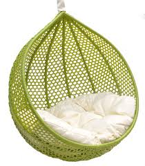furniture unique lime swingasan chair with white cushion ideas