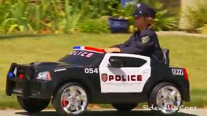 kid car kid trax police dodge charger review sidewalk cops car youtube