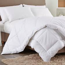 puredown white down alternative comforter duvet insert cotton
