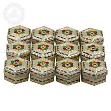 gift to india shape boxes pack of 12 pcs