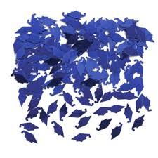 blue graduation cap graduation cap metallic confetti
