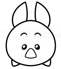 how to draw tsum tsum piglet step by step disney characters