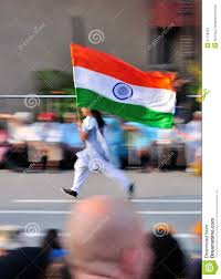 The Indian Flag Student Running With The Indian Flag Editorial Photography Image