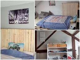 lit avec des palettes lit u0026 armoire en palettes pallet bed u0026 wardrobe u2022 1001 pallets