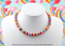 resin bead necklace images Zigzag beads 9mm small zigzag stacking beads bright rainbow jpg