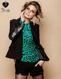jacky luxury jacky luxury blazer zwart leather look fashionexclusive nl