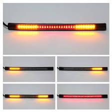 led light strip turn signal universal flexible 48 smd led motorcycle motorbike tail brake stop