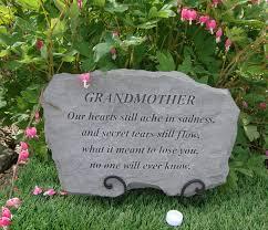 grandmother memorial garden plaque grave marker