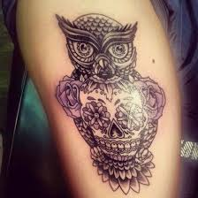 36 best owl skull tattoo designs images on pinterest skulls