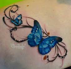 3d cool butterfly tattooed awesomeness