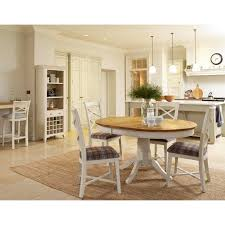 Oak Dining Table And Fabric Chairs Padstow Extending Oak Dining Table Chairs Ex Display