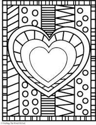 heart coloring valentine u0027s