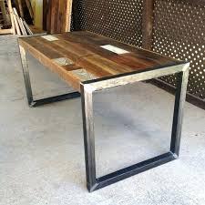 Metal Corner Computer Desk Metal And Wood Desk Desk Finished Wood Desk On Metal Legs