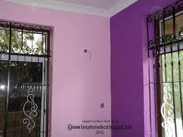 wall colour combination with purple home design bination latest
