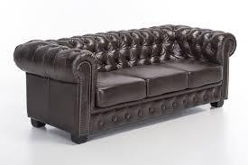 echtleder sofa woodkings chesterfield sofa 3er braun vintage echtleder