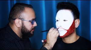 diy clown white u0026 glitter beard halloween makeup tutorial