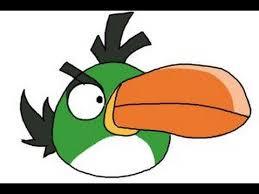 draw angry bird hal green bird boomerang bird