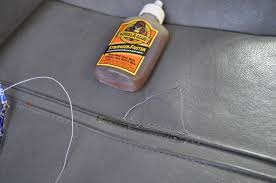 Car Upholstery Glue Seat Repair Stitching Pulling Out Of The Leather Do You Glue