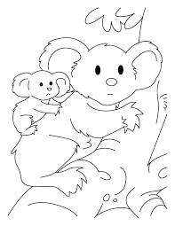 coloring pages mom u0027s koala coloring