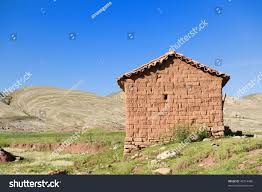 old adobe house countryside bolivia stock photo 46714486